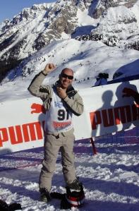 Eurosport MotoGP commentator Toby Moody prepares for the slalom...