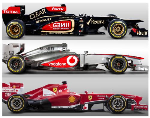 Comparison F1 cars